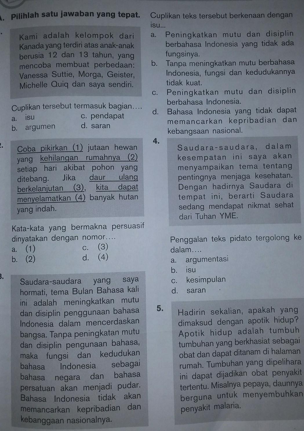 Jawaban Mandiri Bahasa Indonesia Kelas9 Halaman 29 35 Brainly Co Id