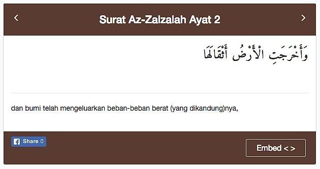 Isi Kandungan Surat Az Zalzalah Ayat 1 2 Bukan Artinya Tapi