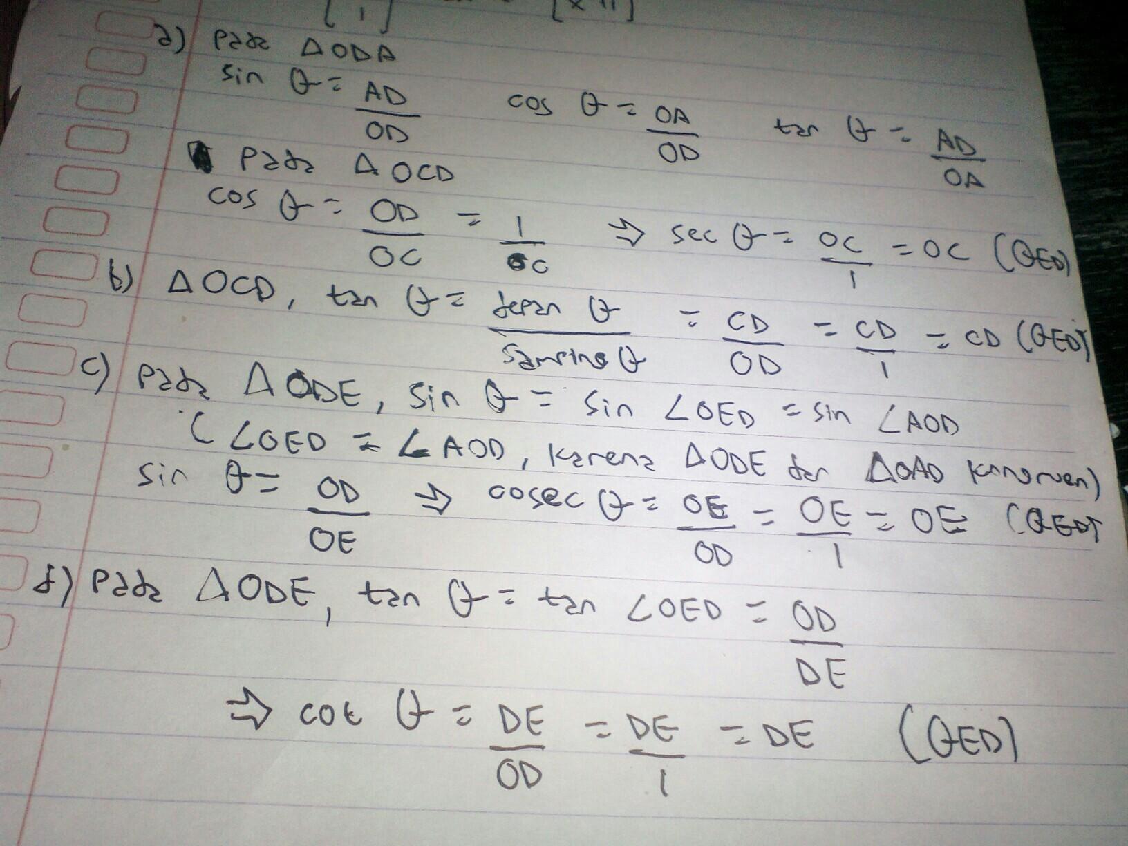 Perhatikan gambar di bawah ini.BuktikanA. OC= sec 0B. CD ...
