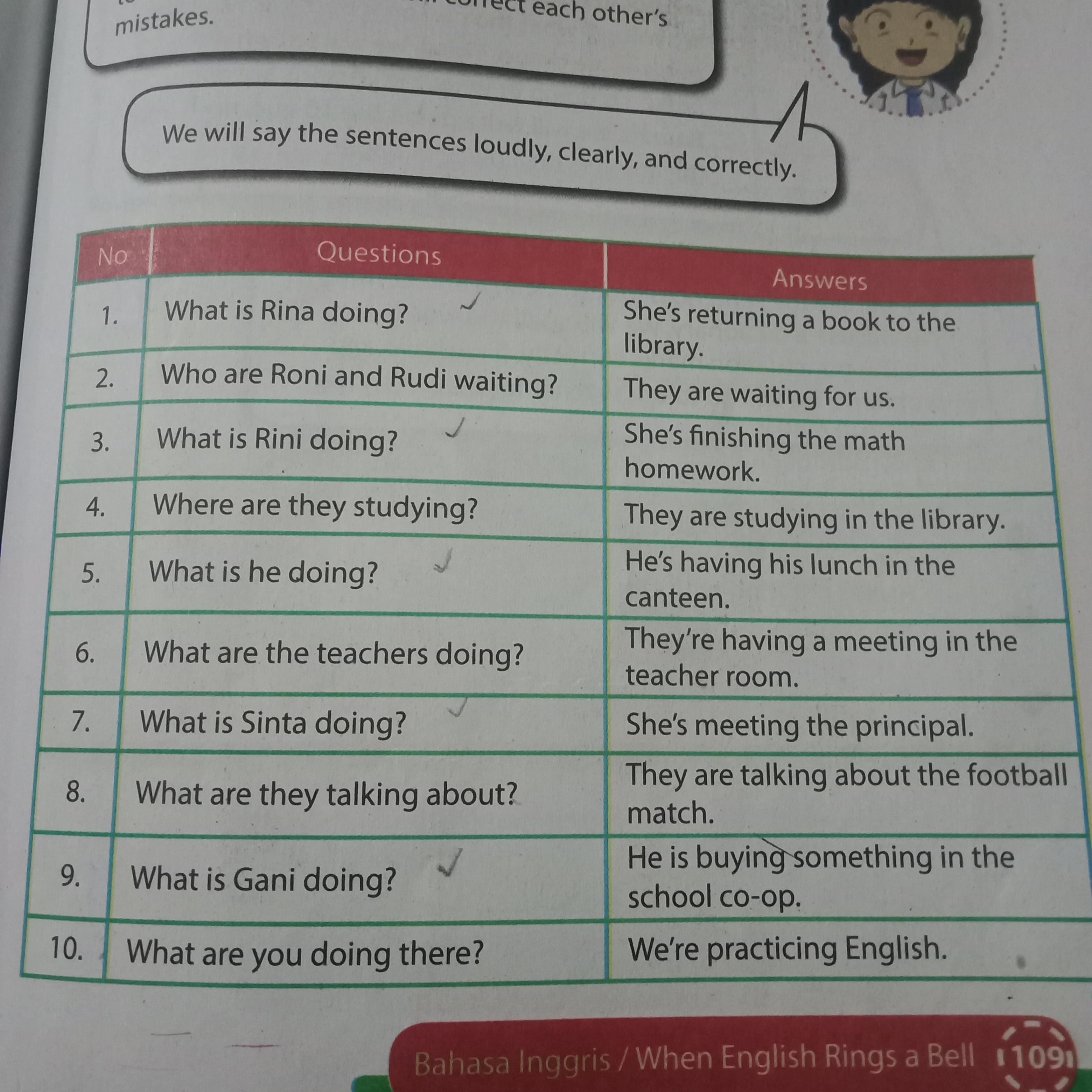 Jawaban Bahasa Inggris Kelas 8 Halaman 109 Brainly Co Id