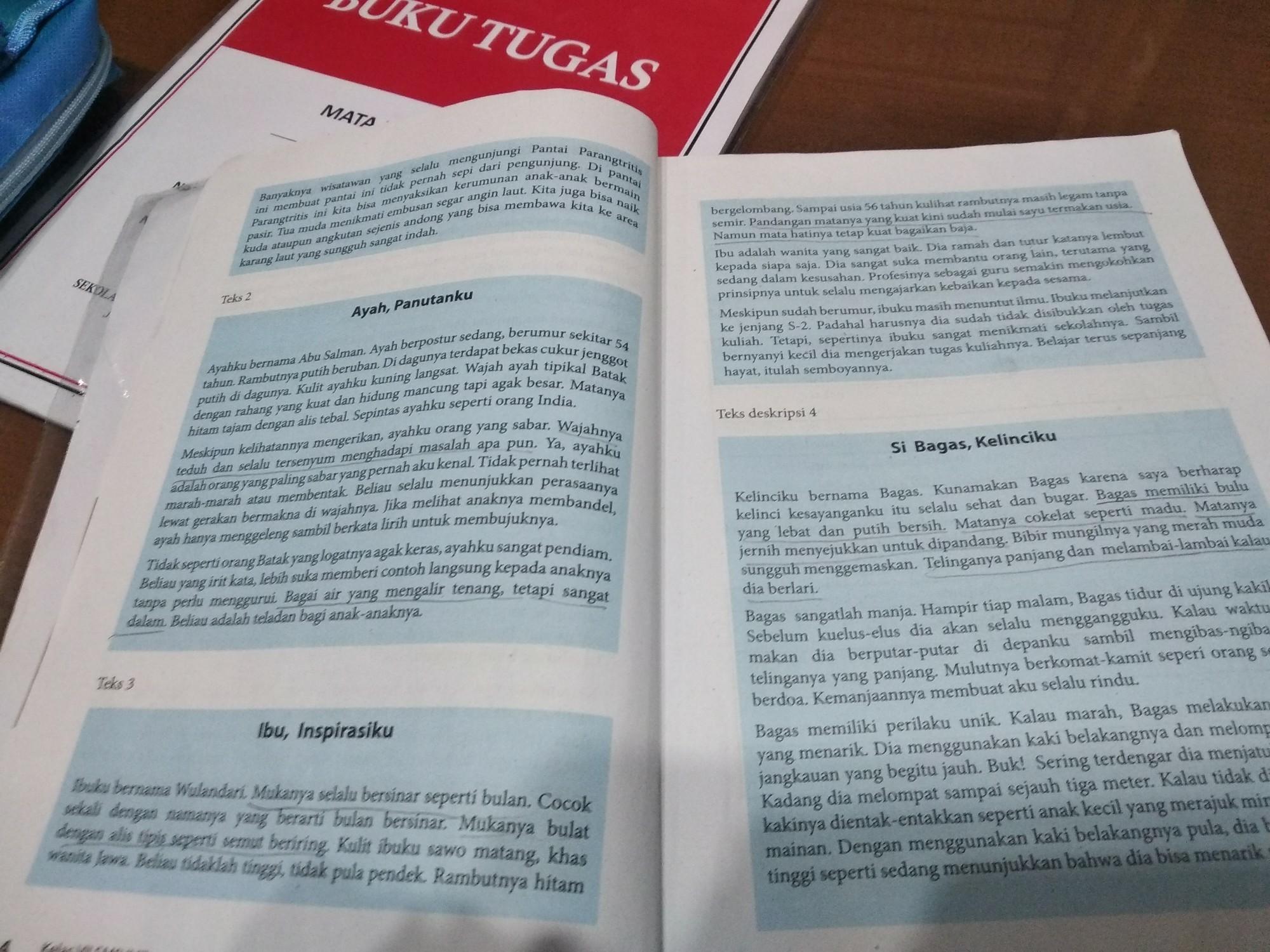 Daftarlah Kata Sifat Pada Teks 3 Ibu Inspirasiku Di Buku B Indo Kelas 7 Smp Halaman 4 Jawab Yah Brainly Co Id