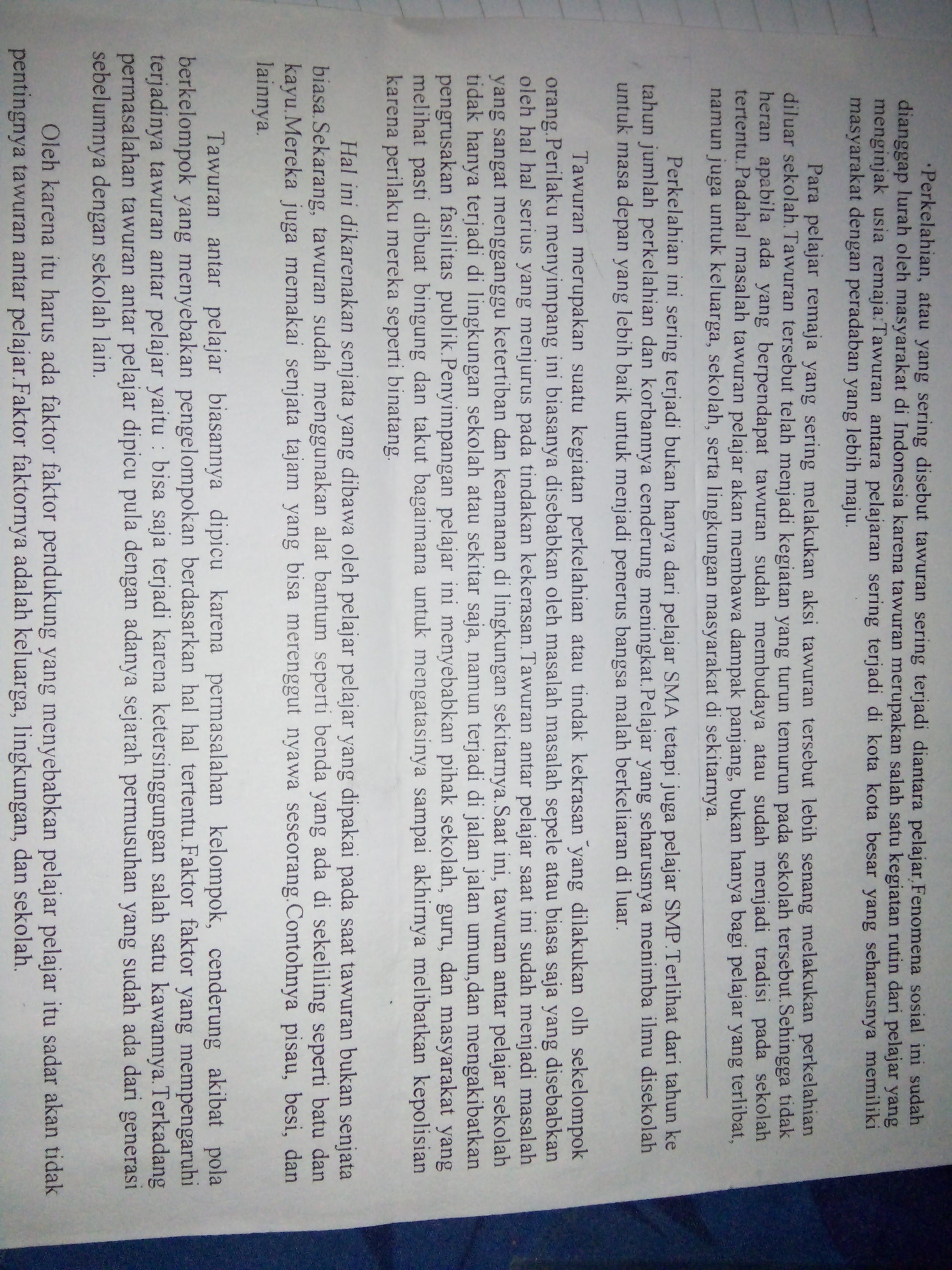 1 Jelaskan Struktur Teks Eksplanasi Diatas Menyebutkan Paragraf 2 Tentukan Kalimat Utama Dan Brainly Co Id