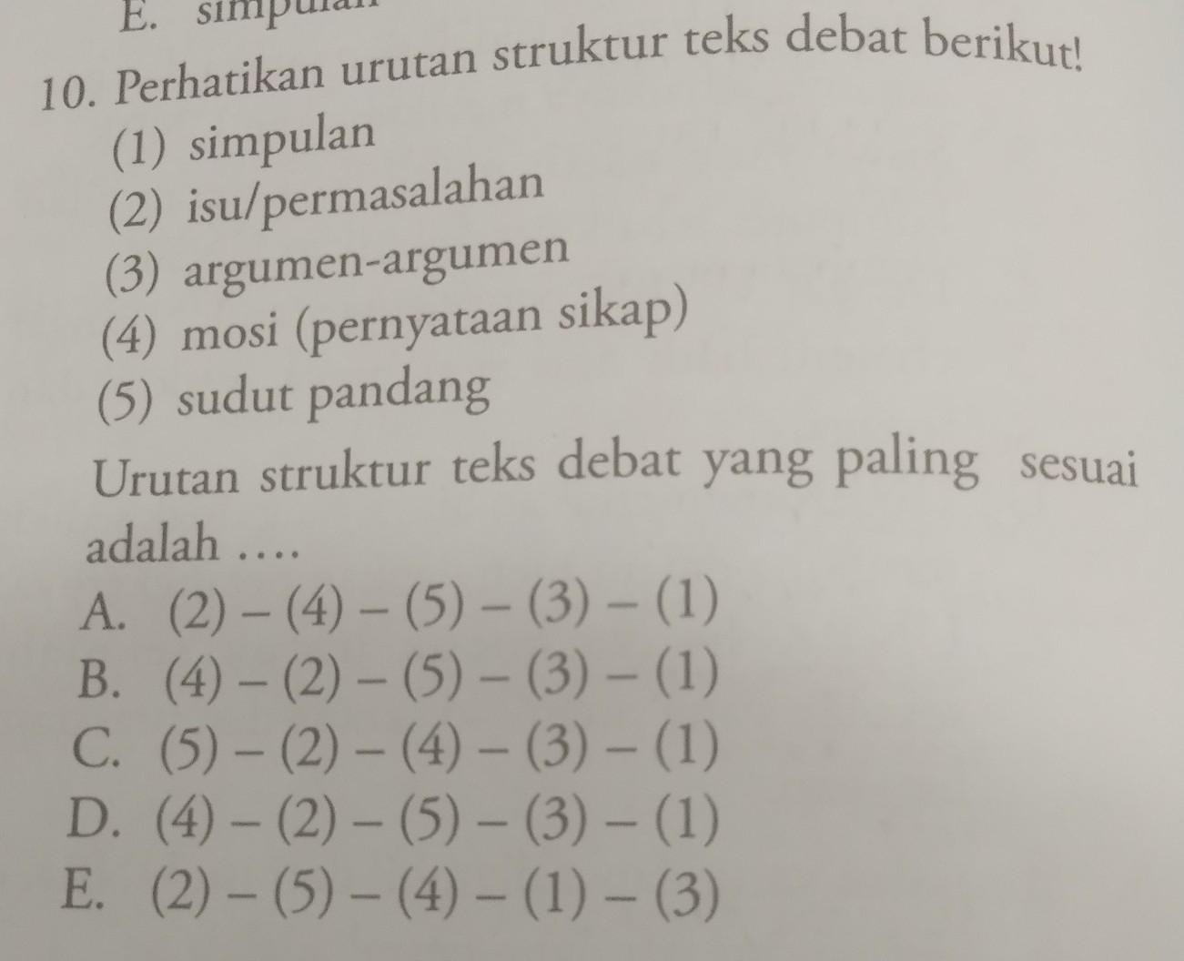 Coba Jawablah Dengan Benar Dan Tepat Di Atas Nomor 10 Brainly Co Id
