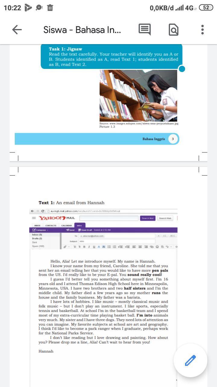 Terjemahan bahasa inggris dalam bahasa indonesia halaman 4 dan 5 kelas x -  Brainly.co.id