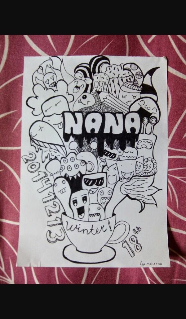 Tolong Carikan Contoh Doodle Nama Seperto Contoh Berikut Brainly Co Id