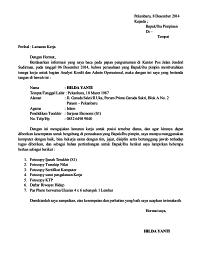 Contoh Surat Lamaran Kerjasurat Dinassurat Resmi Dalam