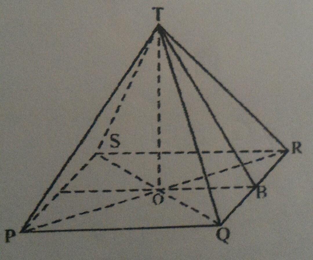 1. Diketahui limas T. PQRS adalah limas persegi. seperti ...