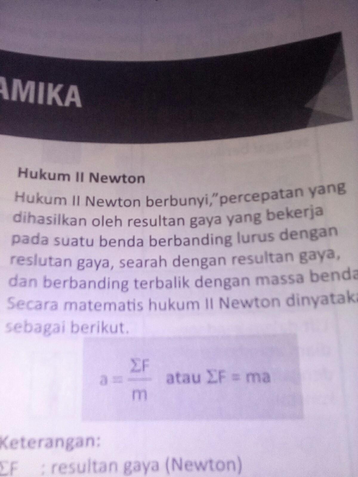 Pernyataan Berikut Yang Sesuai Dengan Hukum 1 Newton ...