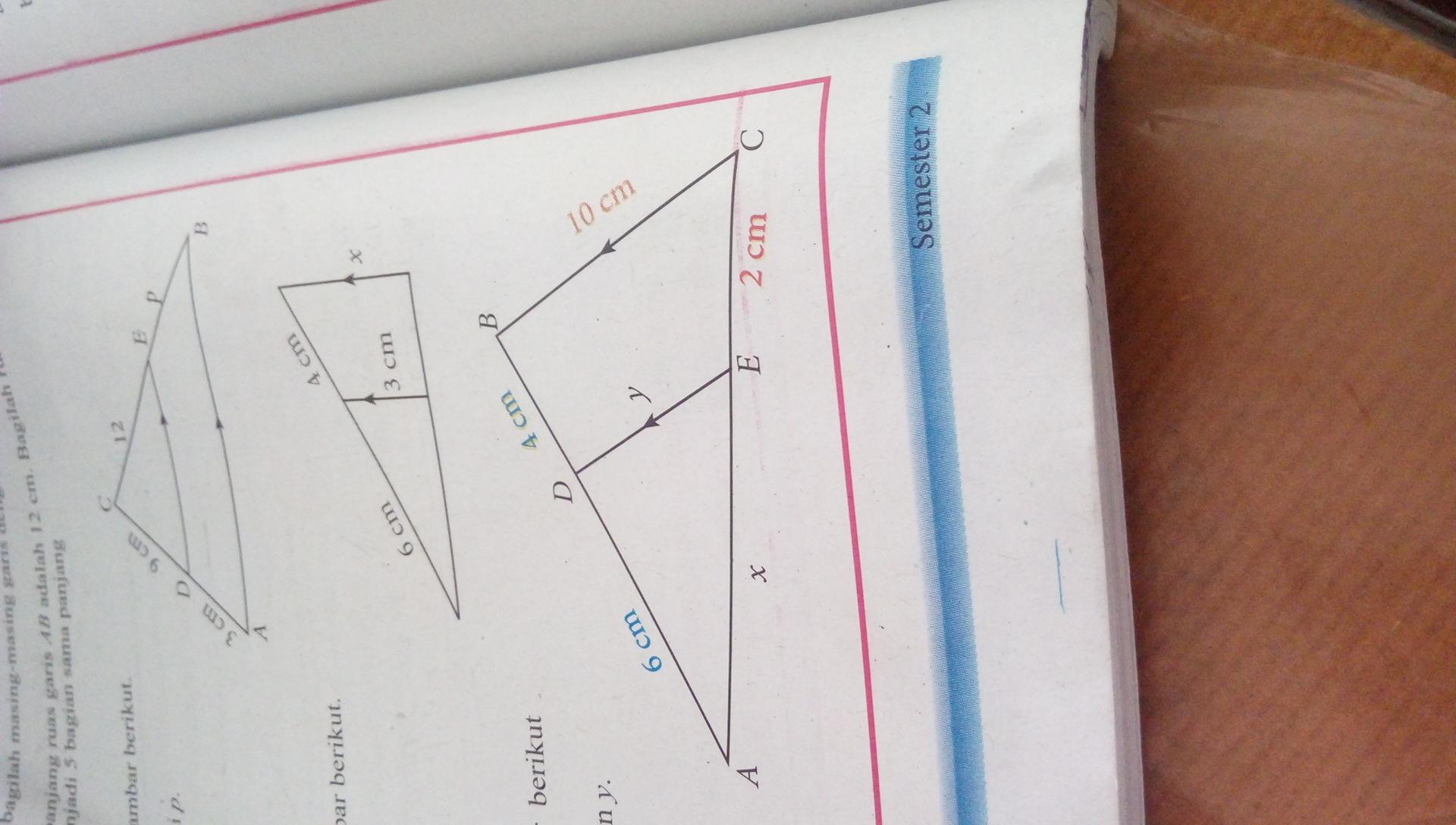 Perhatikan gambar berikutTentukan nilai X dan Y ...