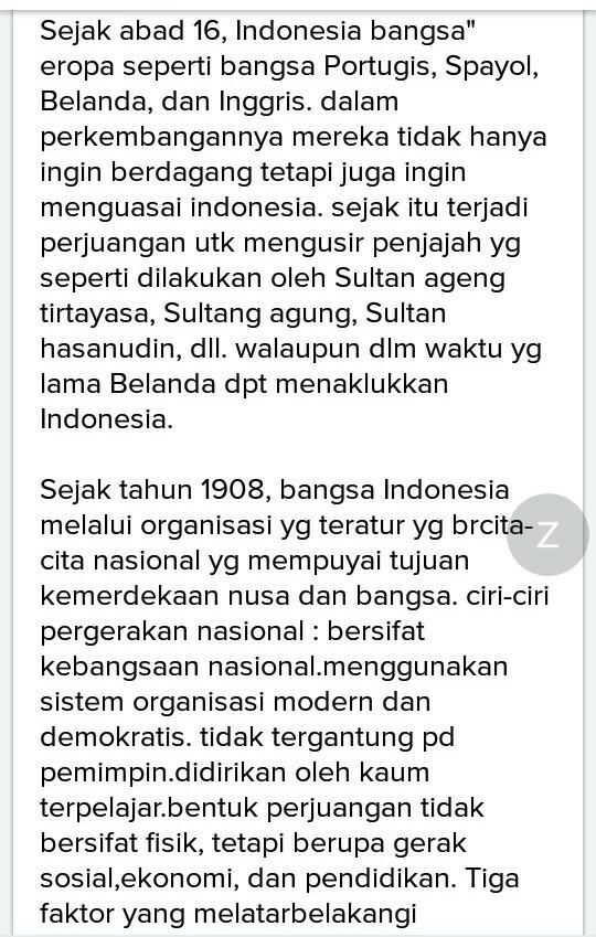 Jelaskan Latar Belakang Munculnya Nasionalisme Indonesia Brainly Co Id