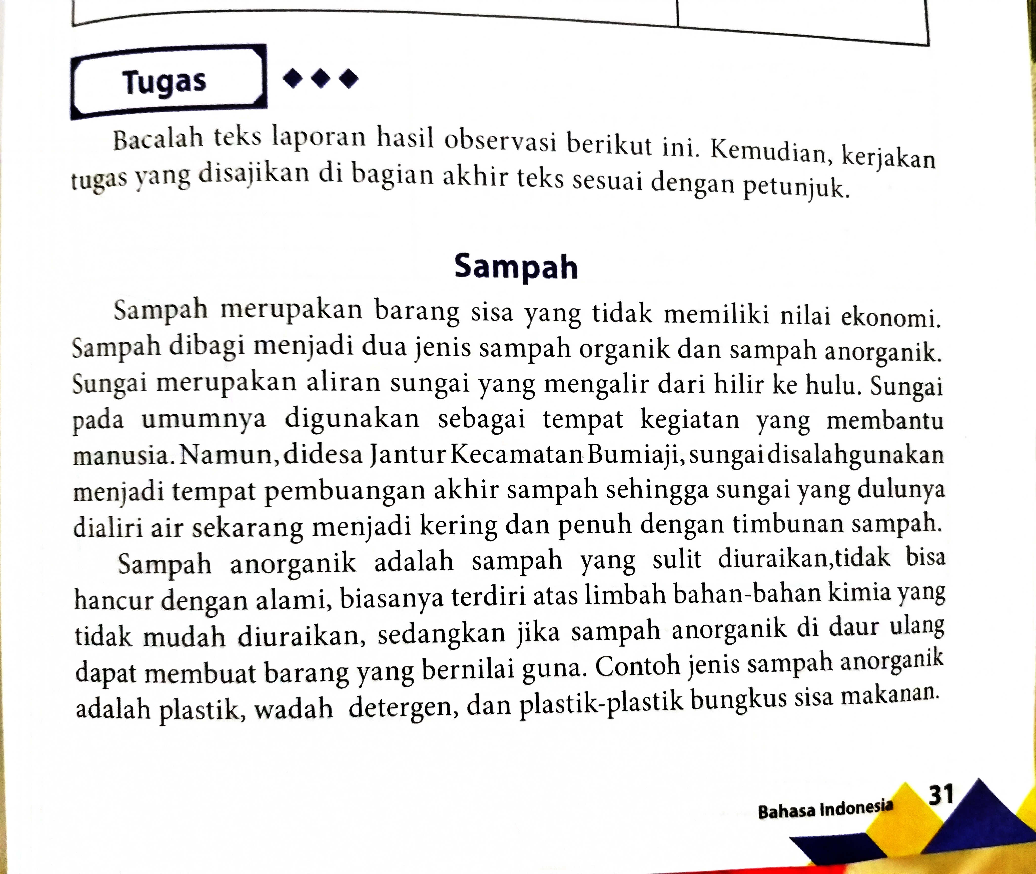 Verba Dan Frasa Verba Dari Teks Sampah Brainly Co Id