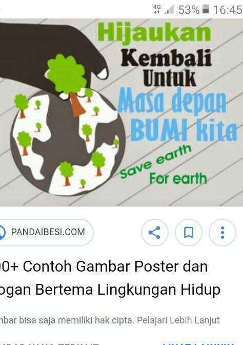Contoh Poster Lingkungan Beserta Gambar Brainly Co Id