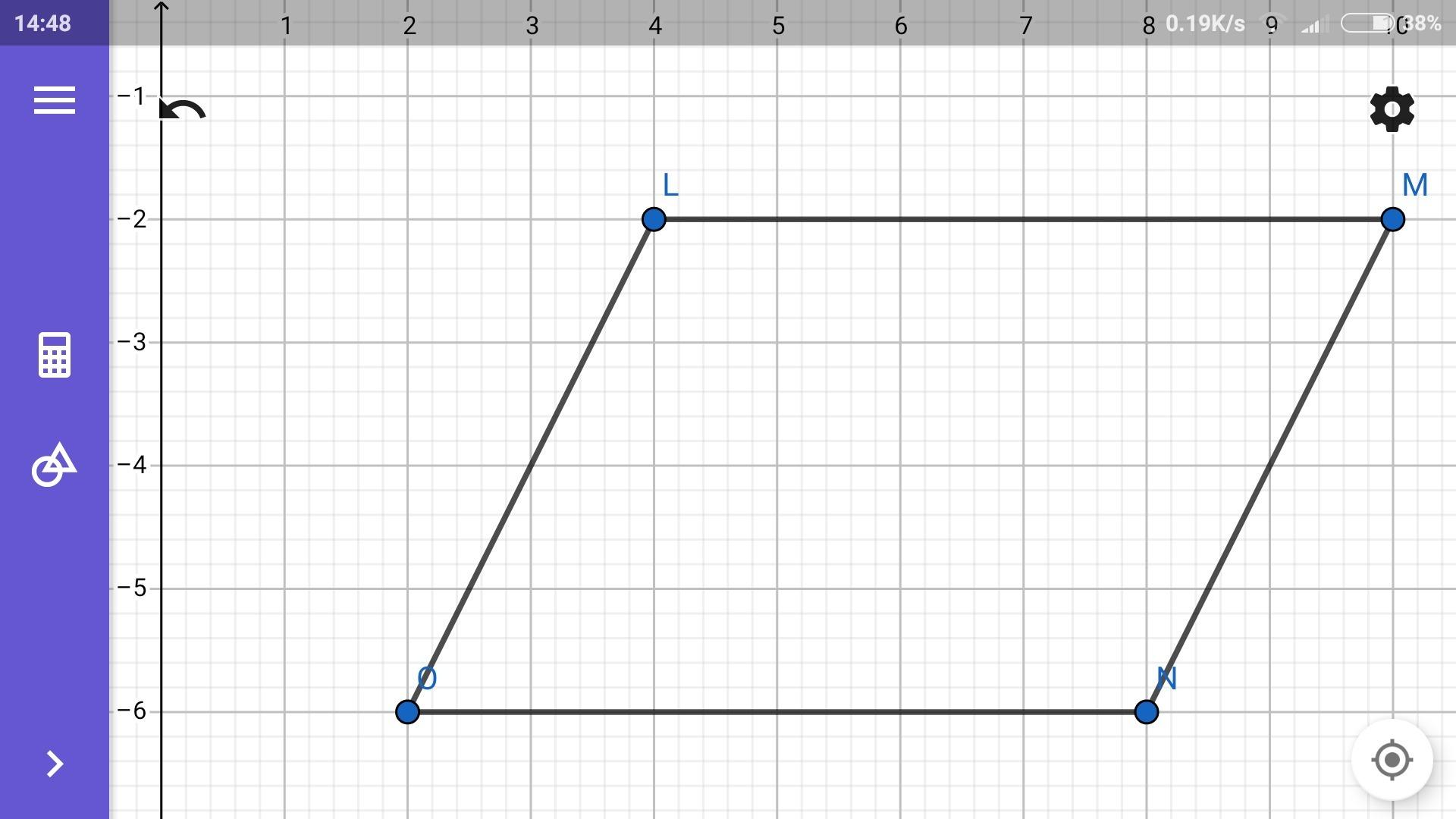 Diketahui jajar genjang LMNO dengan koordinat titik L(4 ...