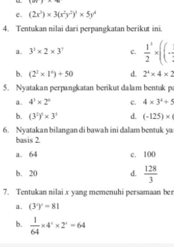 Jawaban Soal Nomor 7 Amp 9 Halaman 21 Latihan 1 2 Perkalian Pada Perpangkatan Buku Paket Kelas 9 Brainly Co Id