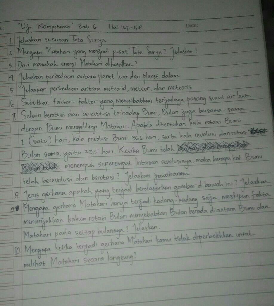 Uji Kompetensi Bab 6 Halaman 167 168 Ipa Kelas 7 Brainly Co Id