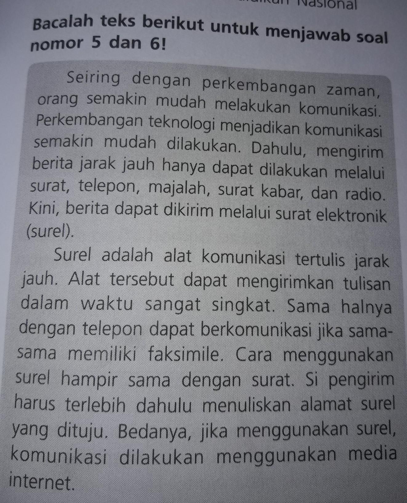 Paragraf Pertama Adalah