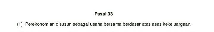 apa bunyi pasal 33 ayat 1 UUD negara republik indonesia