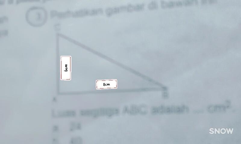 perhatikan gambar di bawah ini!. luas segitiga ABC adalah ...