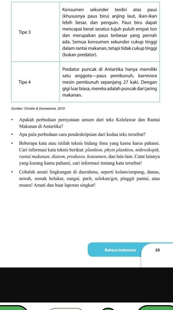 Jawaban Buku Bahasa Indonesia Kelas 9 Halaman 23 Brainly Co Id