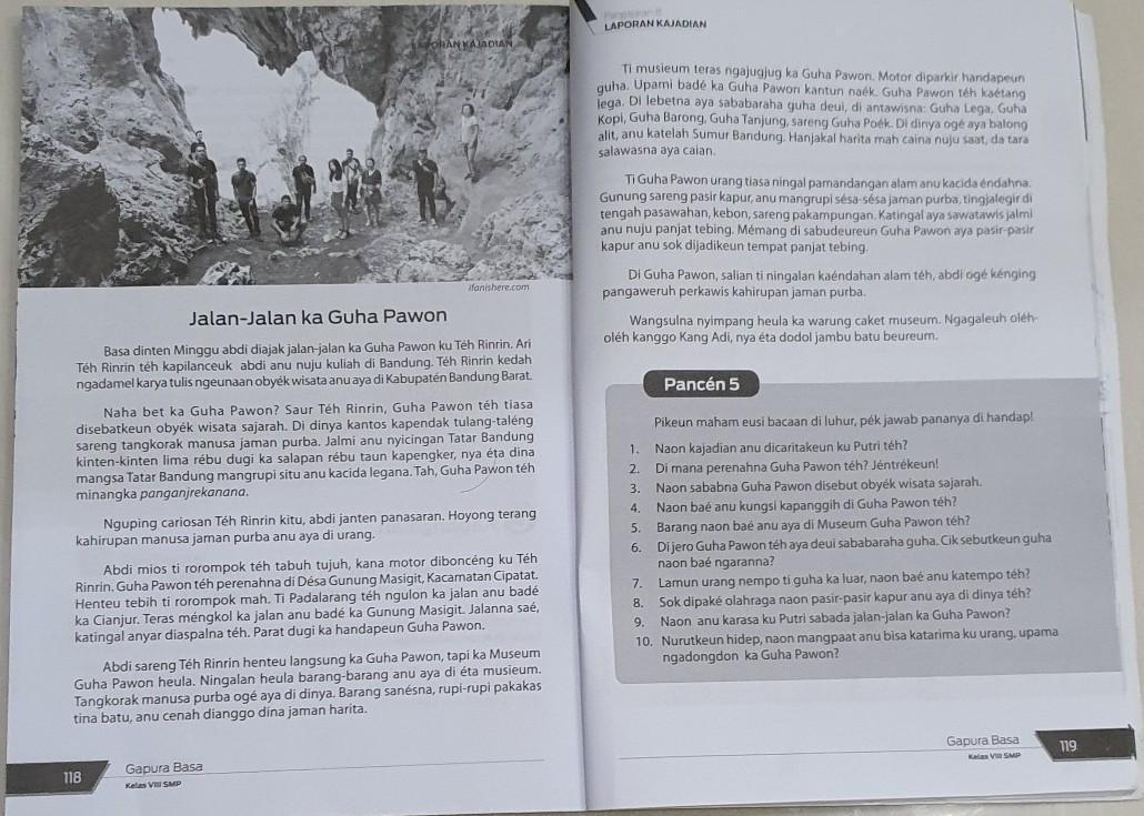 Jawaban Pancen 8 Bahasa Sunda Kelas 8 - Guru Ilmu Sosial
