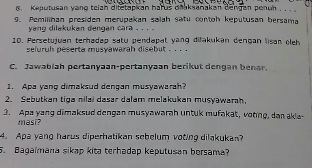 Sebutkan Tiga Nilai Dasar Dalam Melakukan Musyawarah ...