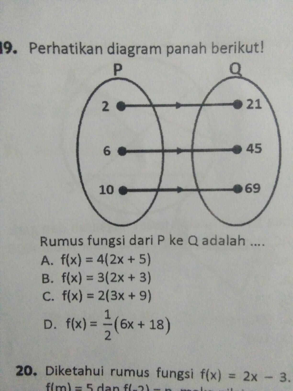 rumus fungsi dari P ke Q adalah - Brainly.co.id
