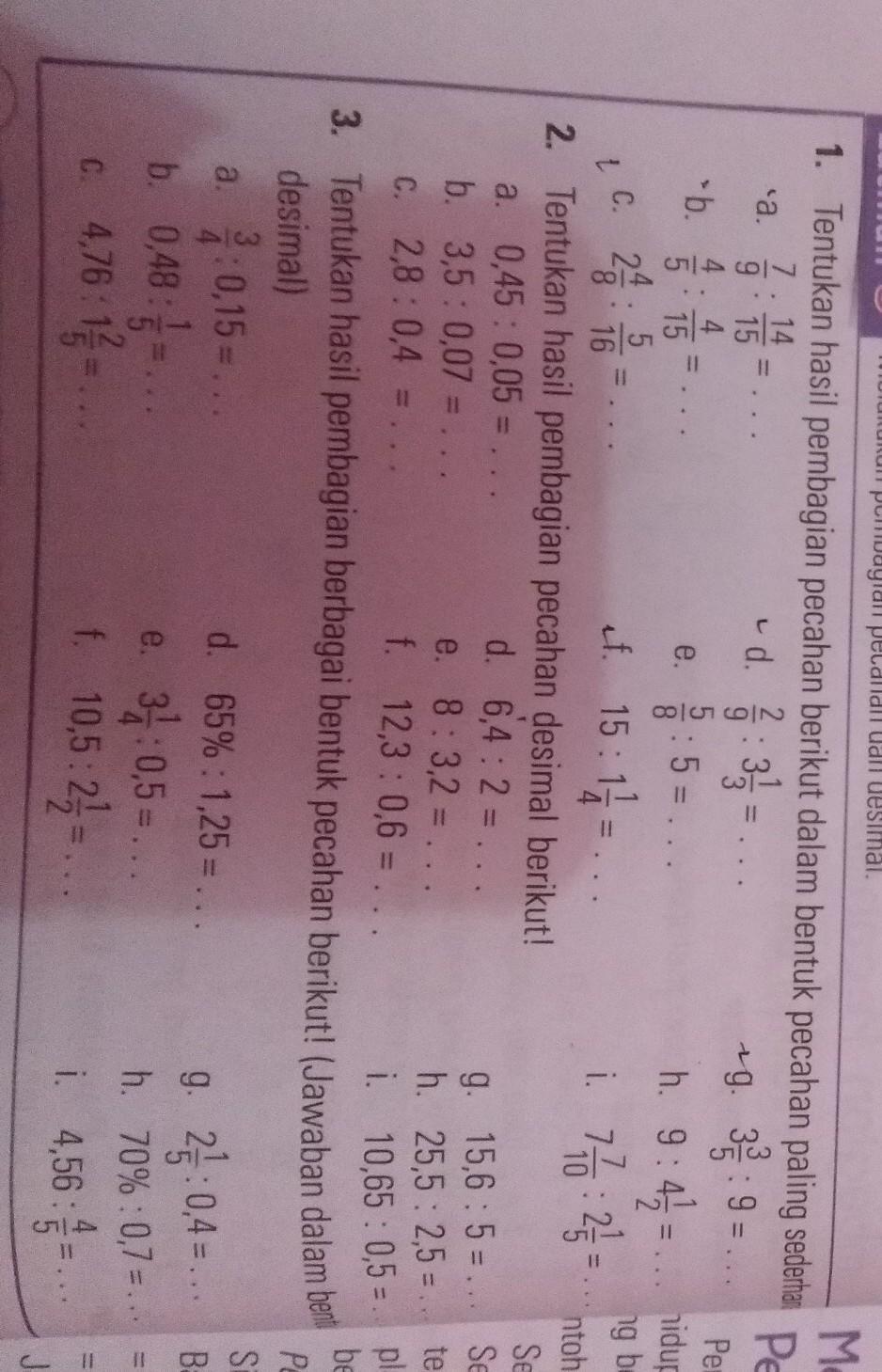 Kunci Jawaban Matematika Kelas 5 Sd Latihan 5 Halaman 16 Melakukan Pecahan Dan Desimal Brainly Co Id