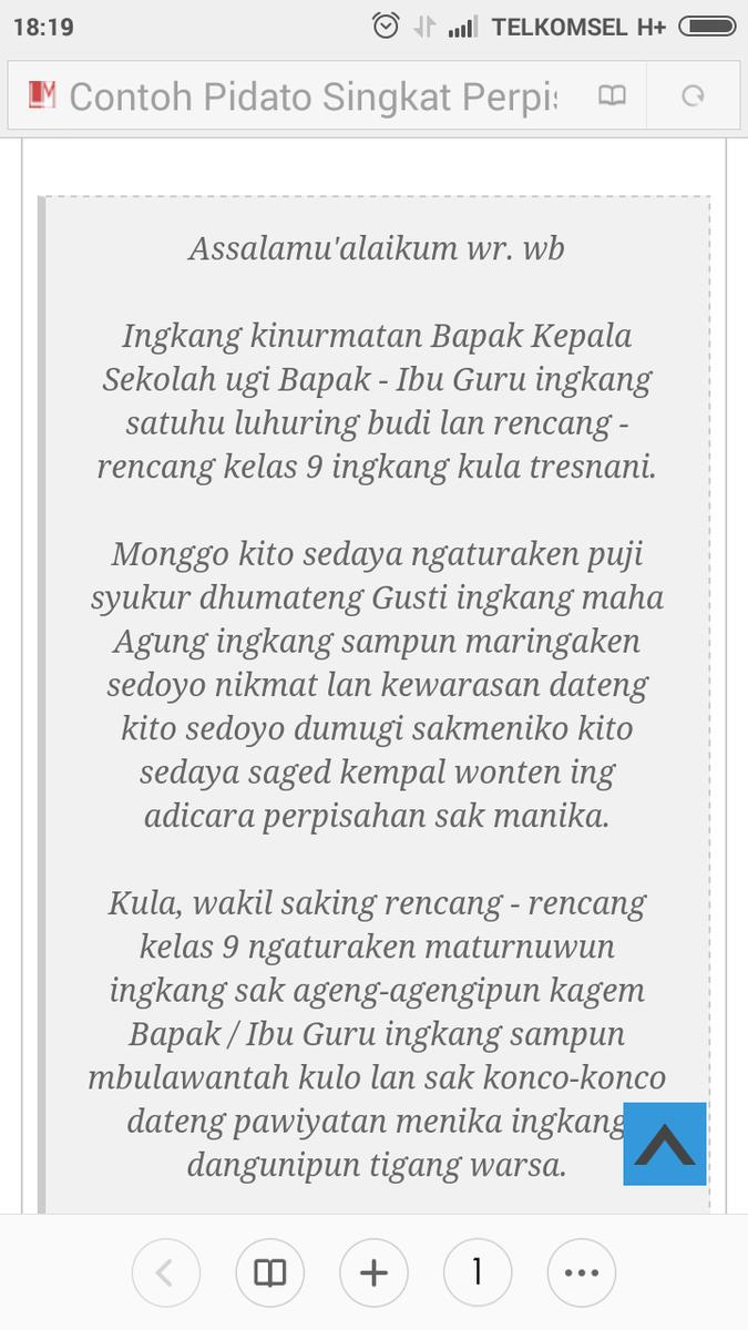 Contoh Pidato Bahasa Jawa Menggunakan Bahasa Rinengga Brainly Co Id