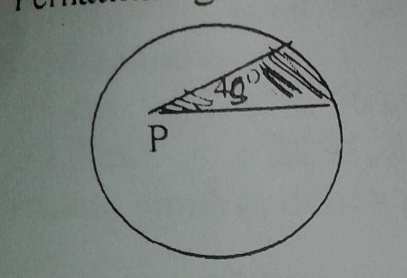 1. p adalah titik pusat lingkaran dengan keliling 88 cm ...