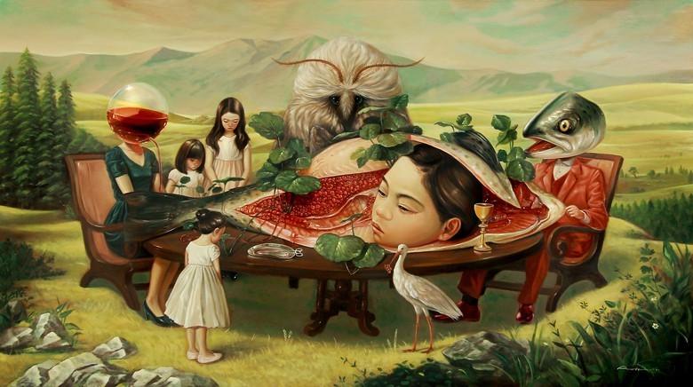 Lukisan Hubungan Manusia Dengan Alam Khayal Brainly Co Id