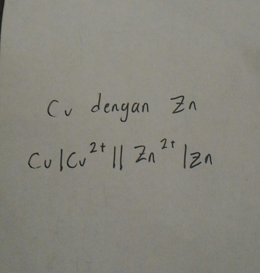 jika diketahui potensial elektrode standar dari: Zn2+|Zn E ...