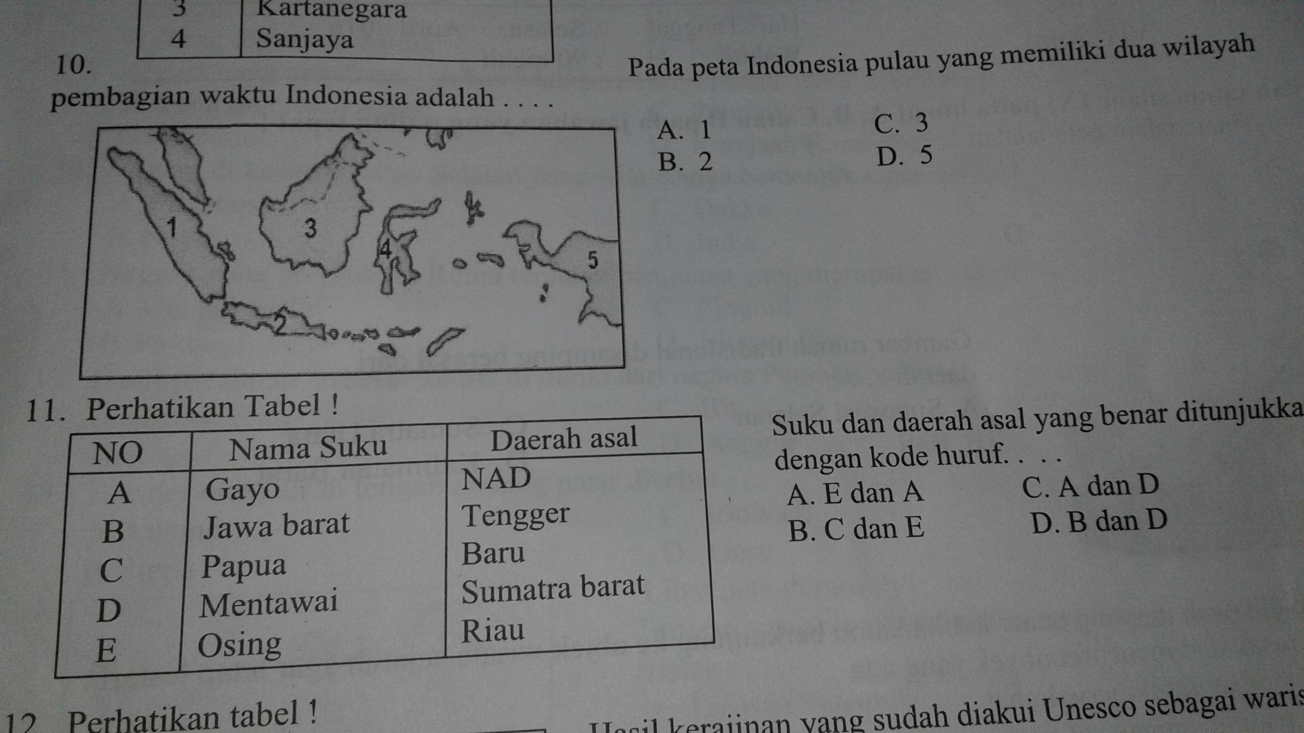 Pada Peta Indonesia Pulau Yang Memiliki Dua Wilayah Pembagian Waktu Indonesia Adalah Brainly Co Id