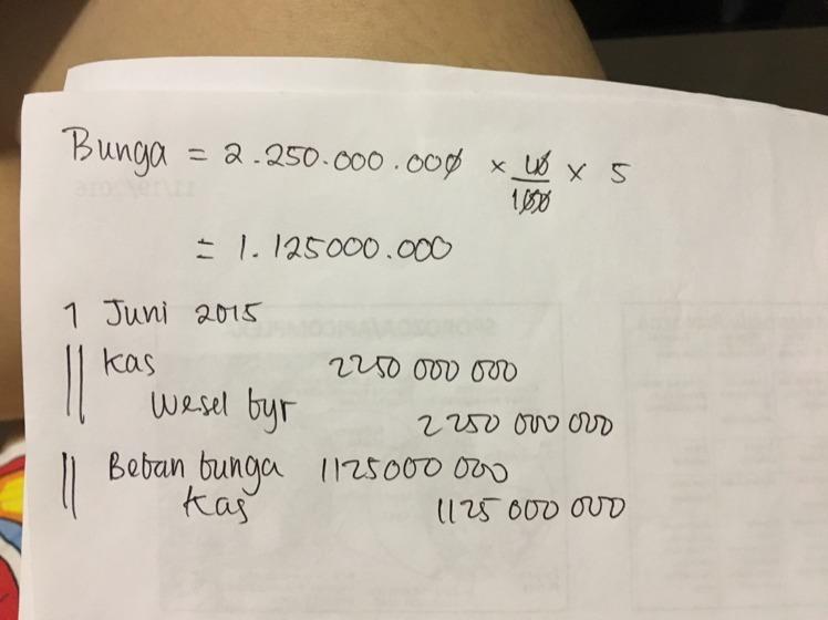 Pada Tanggal 1 Juni 2015 Pt Tenggo Membeli Tanah Dengan Nilai Wajar 1 500 000 000 Dengan Brainly Co Id