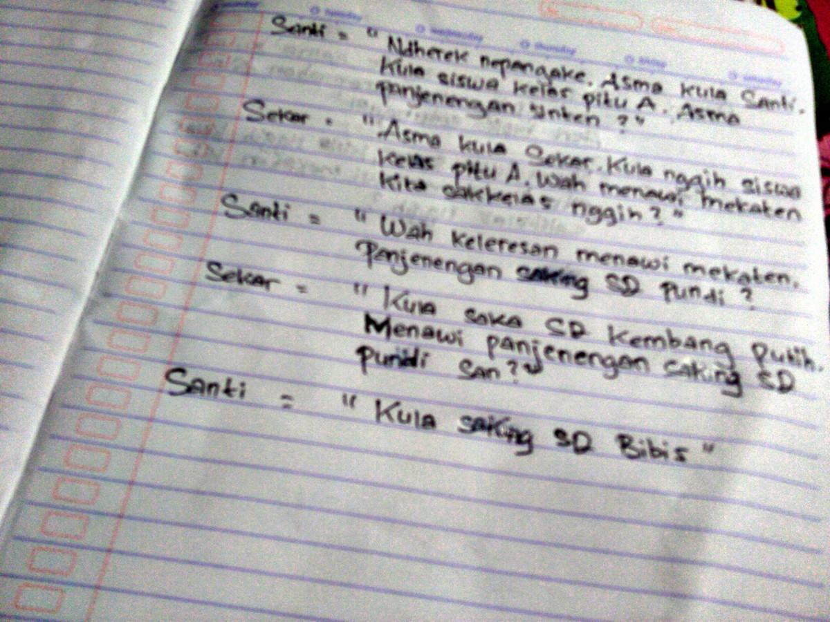 Tolong Buatkan Percakapan Dua Orang Antara Teman Sekolah Dalam Bahasa Jawa Krama Inggil Brainly Co Id