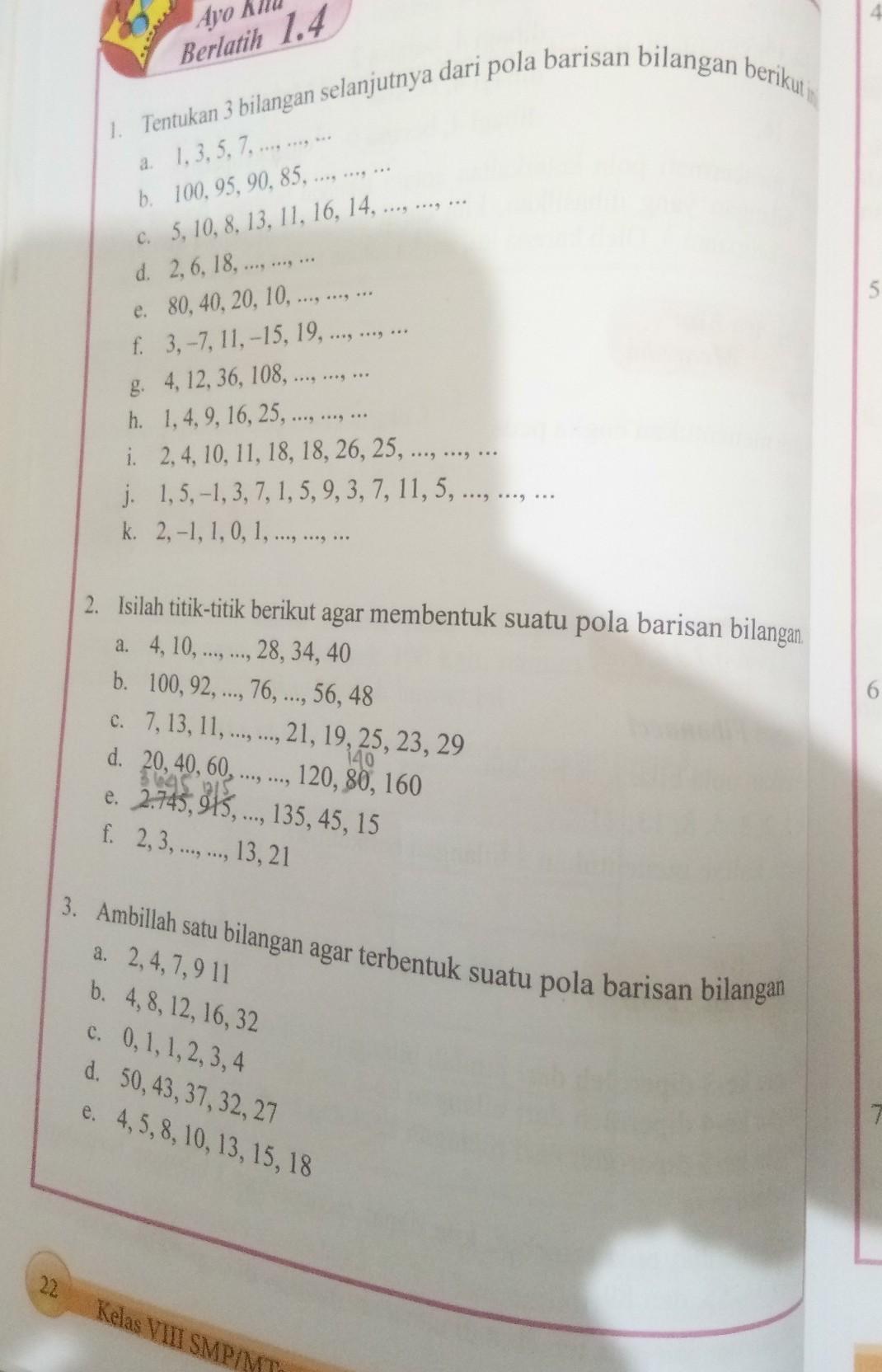 Jawaban Matematika Kelas 8 Halaman 22 Guru Paud