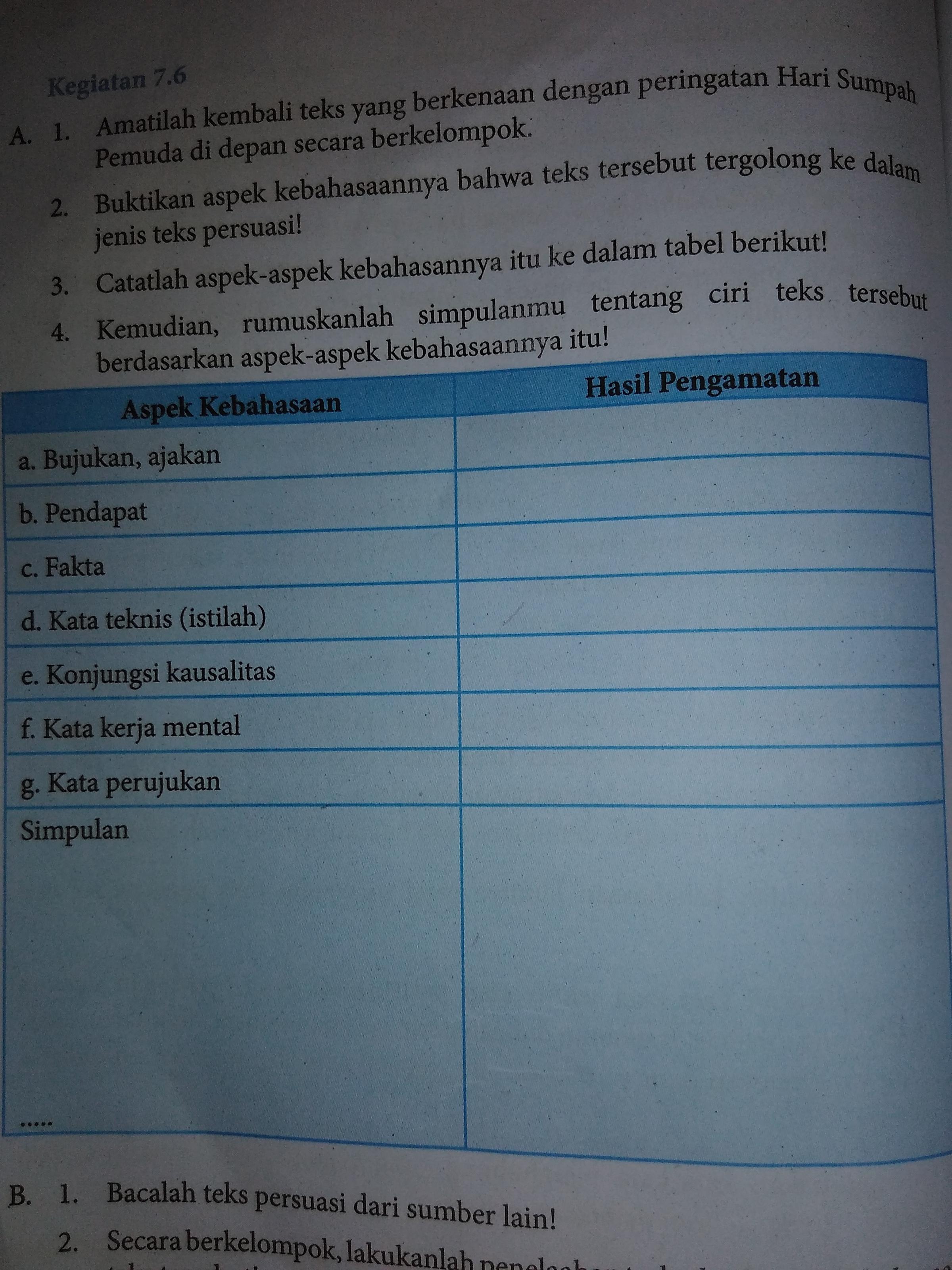 Materi Bahasa Indonesia Kelas 7 Kurikulum 2013 Revisi 2017 ...