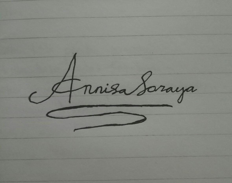 Gambarkan Tanda Tangan Yang Cocok Untuk Nama Annisa Soraya Brainly Co Id