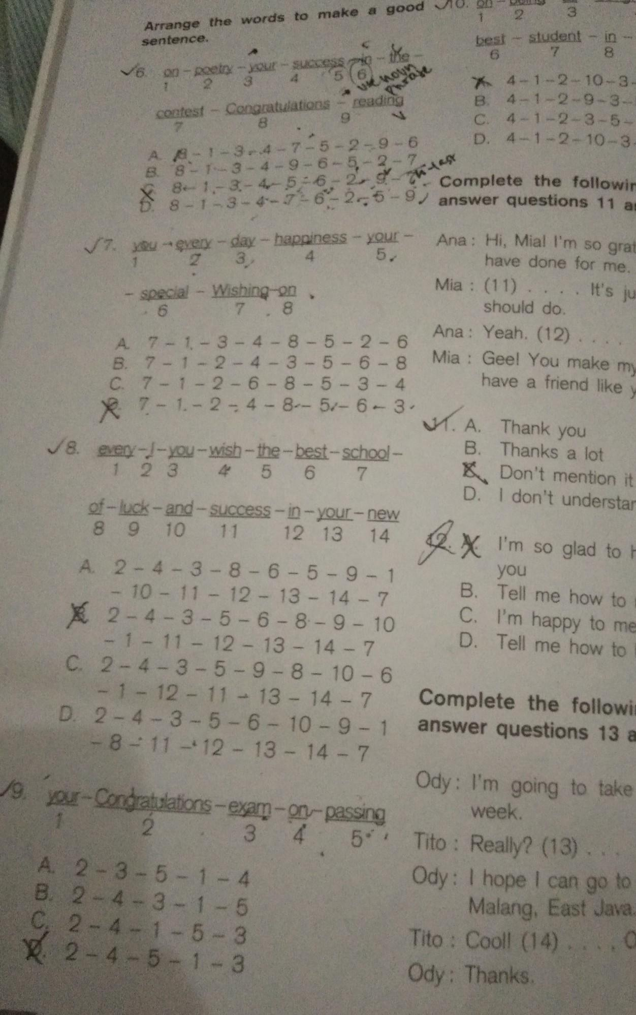 Kunci Jawaban Mandiri Practise Your English Competence Kelas 11 Guru Galeri