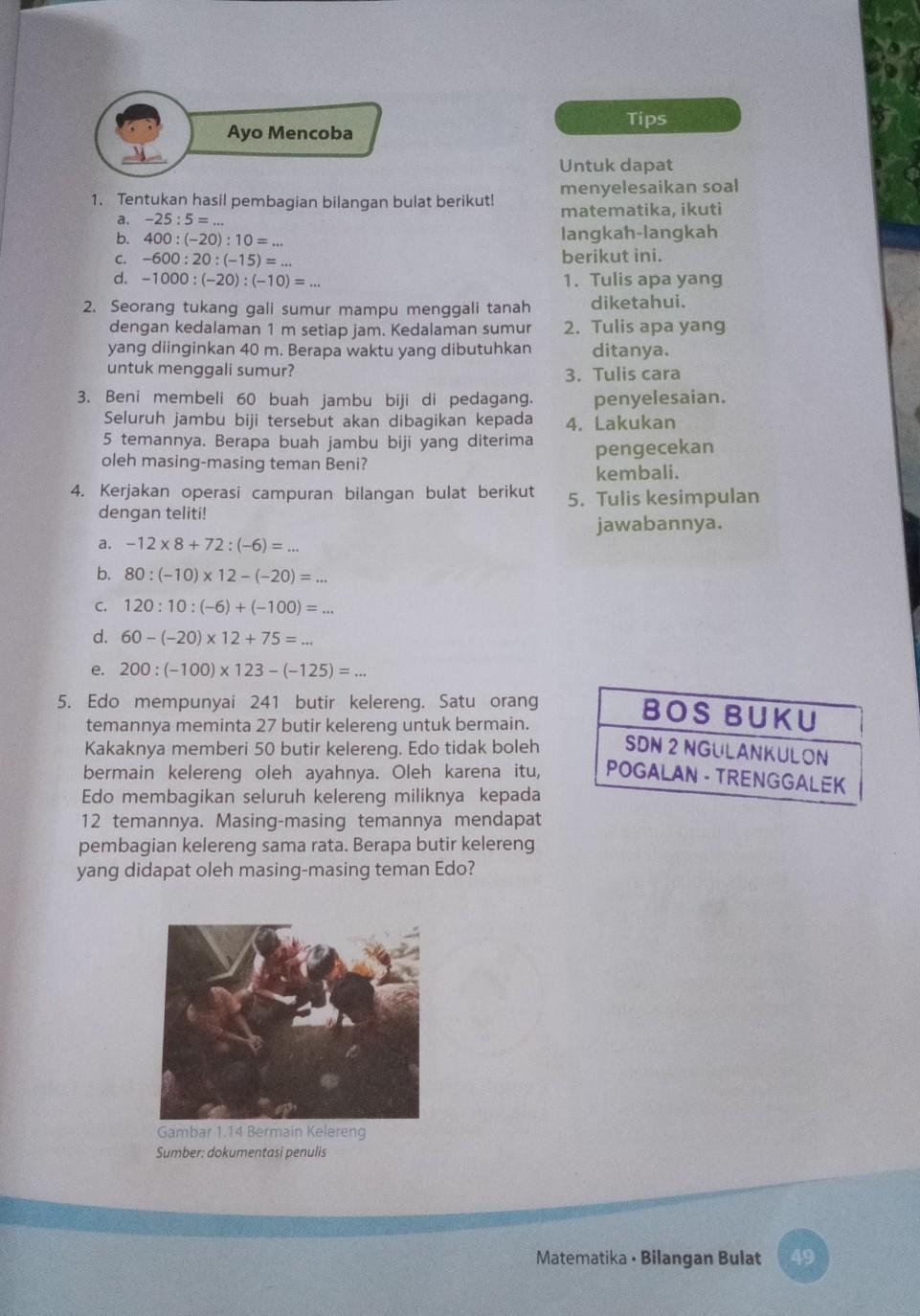 Tolong Dijawab 10 Poin Niikunci Jawaban Matematika Kelas 6 Halaman 49 Brainly Co Id