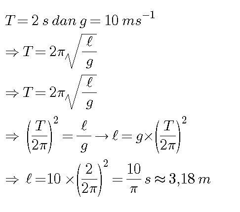 Suatu ayunan sederhana memiliki periode 2 sekon di suatu ...