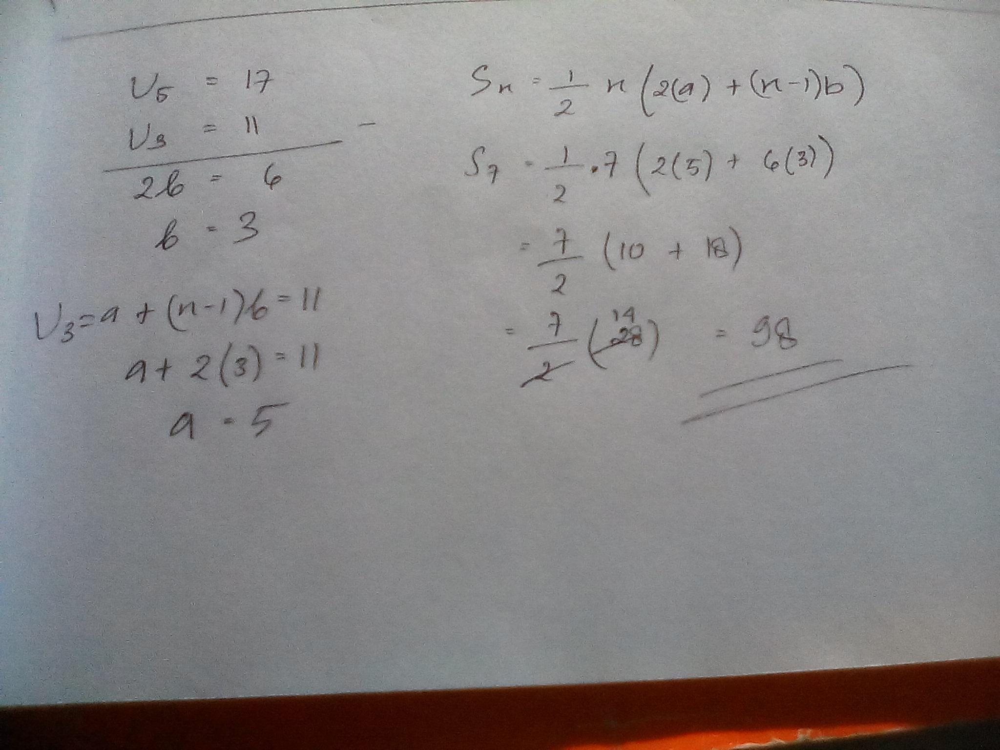 Diketahui suatu barisan aritmatika suku ke 3 dan suku ke 5 ...