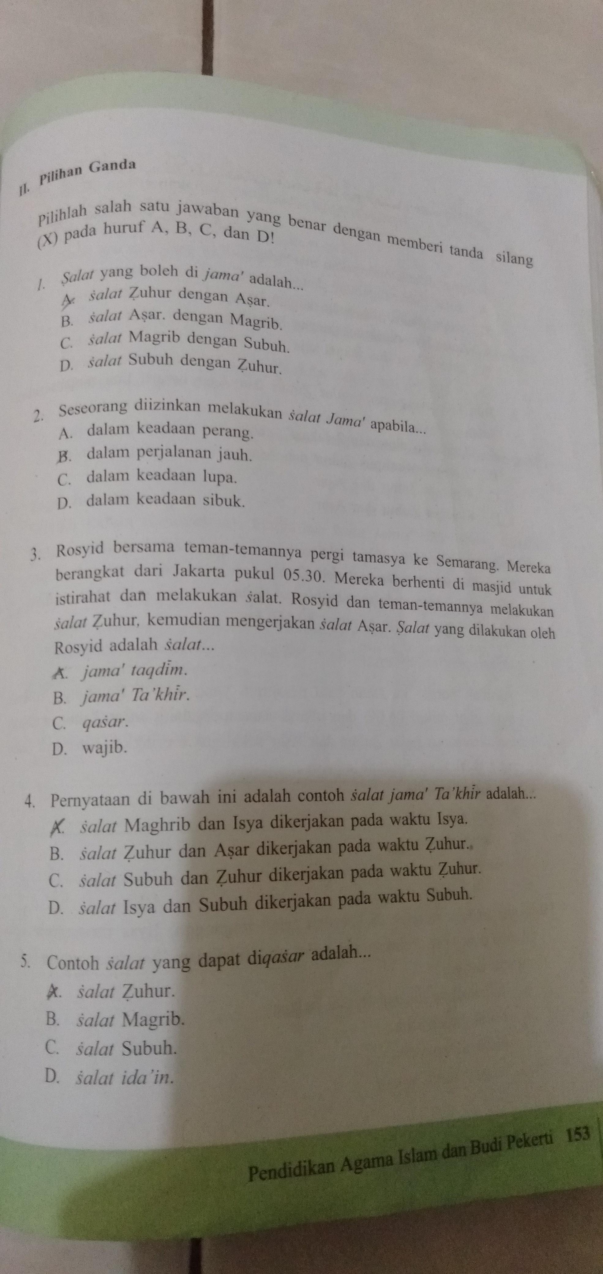 Jawaban Bahasa Indonesia Kelas 11 Kegiatan 1 Bab Proposal Hal 153