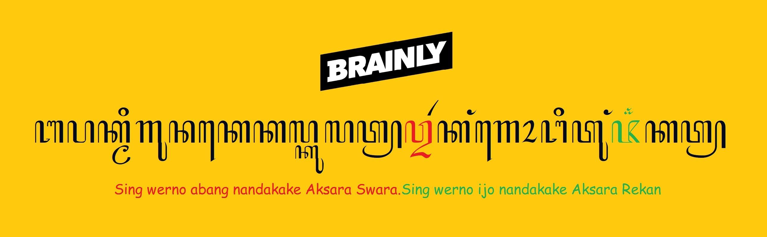 Tuliskan Contoh Kalimat Dari Aksara Rekan Dan Aksara Swara Brainly