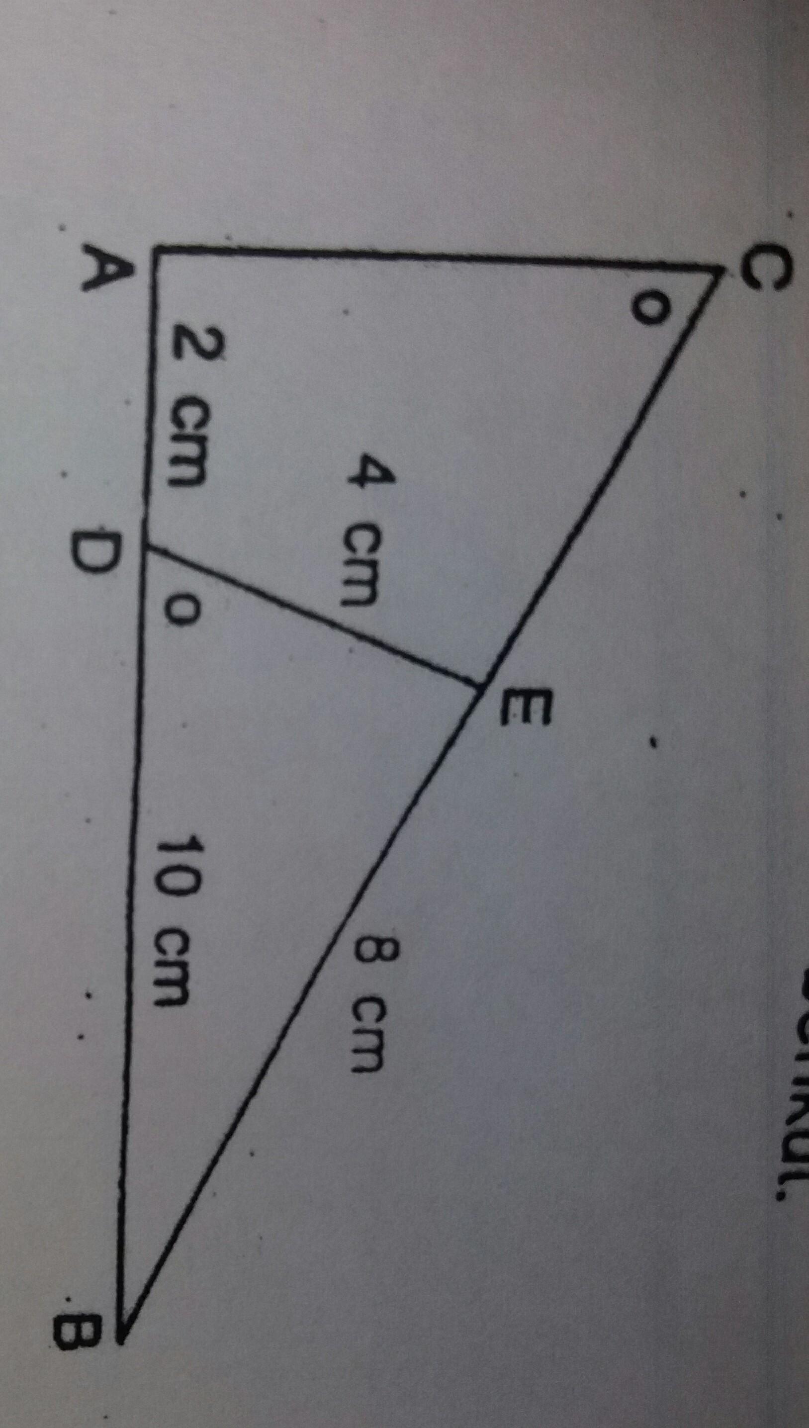 perhatikan gambar berikut. panjang sisi AC adalah ...