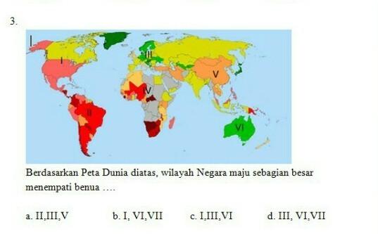 Gambar Negara Maju Di Benua Amerika Berdasarkan Peta Dunia Diatas Wilayah Negara Maju Sebagian Besar