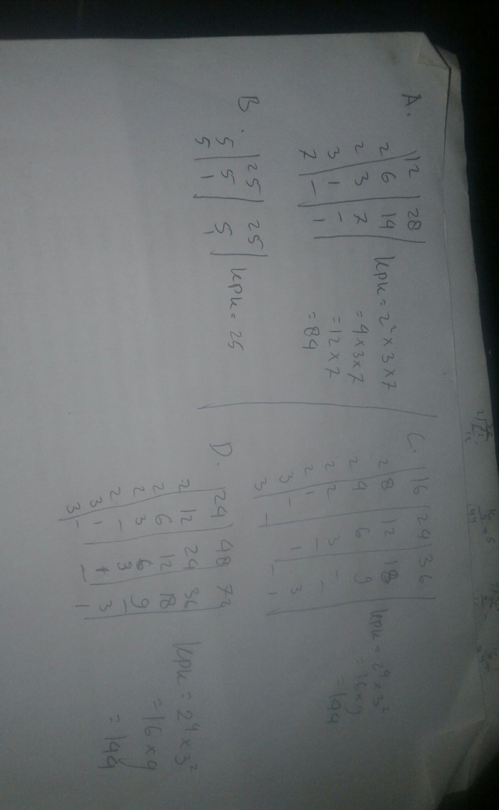2Tentukan KPK dari bilangan-bilangan berikut.a. 12 dan 28b ...