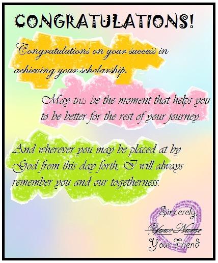 Berikan contoh greeting card bertema your friend get a scholarship unduh png m4hsunfo