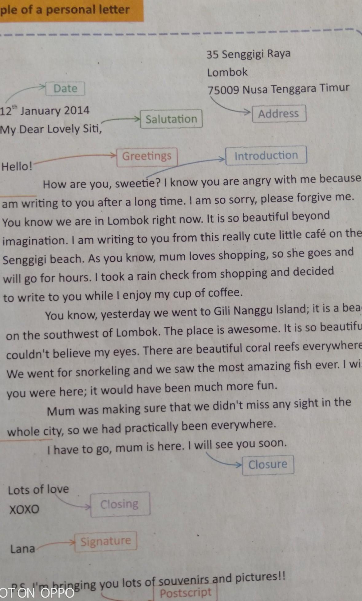 Balasan Surat My Dear Lovely Siti Brainly Co Id