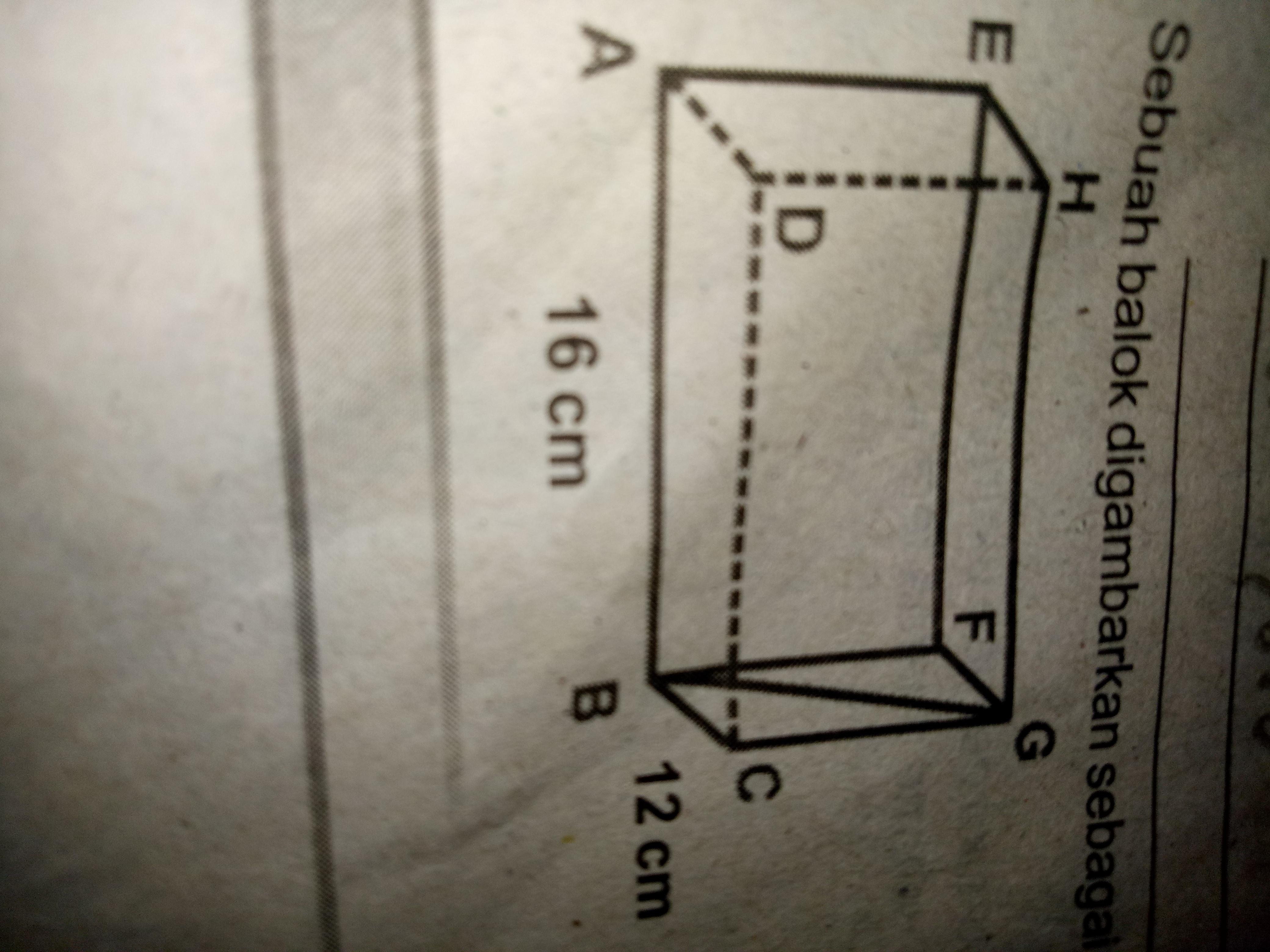 Jika panjang diagonal bidang bg adalah 13 cm tentukan volume balok jika panjang diagonal bidang bg adalah 13 cm tentukan volume balok abcdefghtolong bantu jawab ya kak trmksh ccuart Image collections