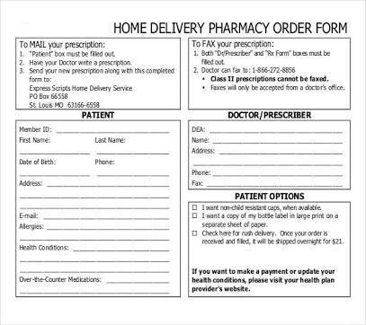 Contoh Medical Form  Purchase Form  Order Form Feservation Form